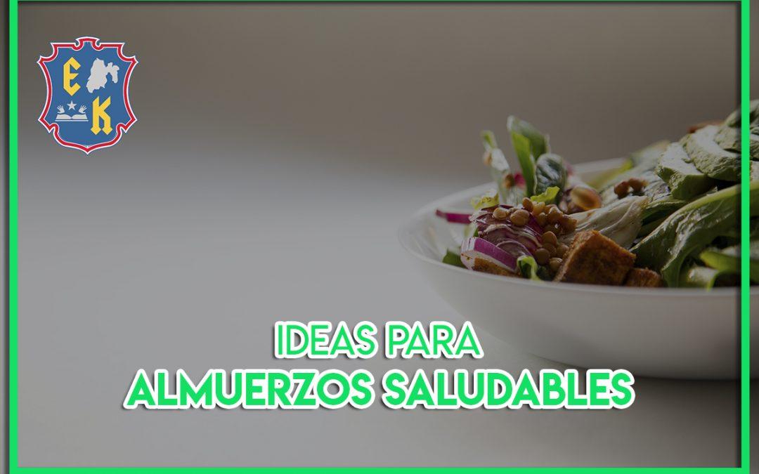 Ideas para almuerzos saludables